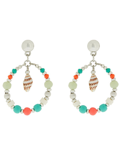 Melrose Limoncello Shell and Bead Hoop Earrings, , large