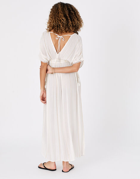 Metallic Maxi Kaftan Dress Cream, Cream (CREAM), large