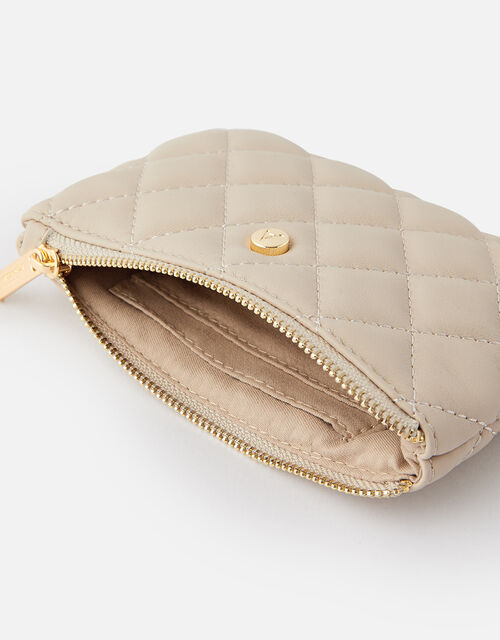 Quilted Coin Purse , Grey (GREY), large