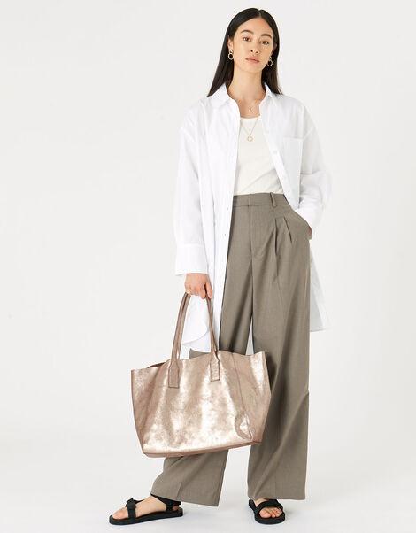 Melinda Large Leather Shopper, , large