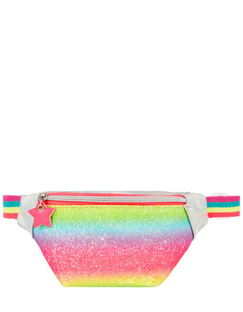 Rainbow Glitter Belt Bag, , large