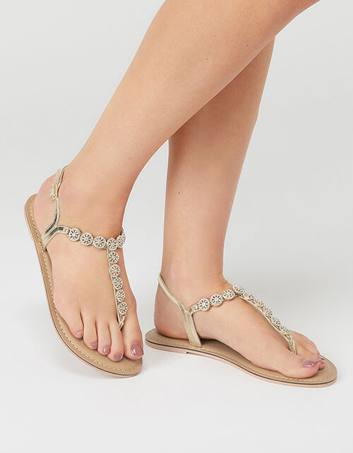 Rome Diamante Embellished Sandals, White (CRYSTAL), large