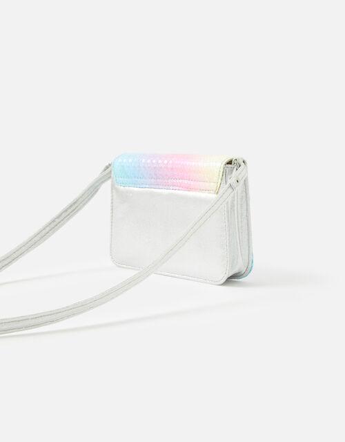Rainbow Sequin Cross-Body Bag, , large