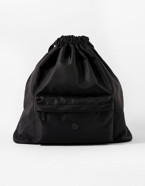 Dani Drawstring Gym Bag Black, Black (BLACK), large