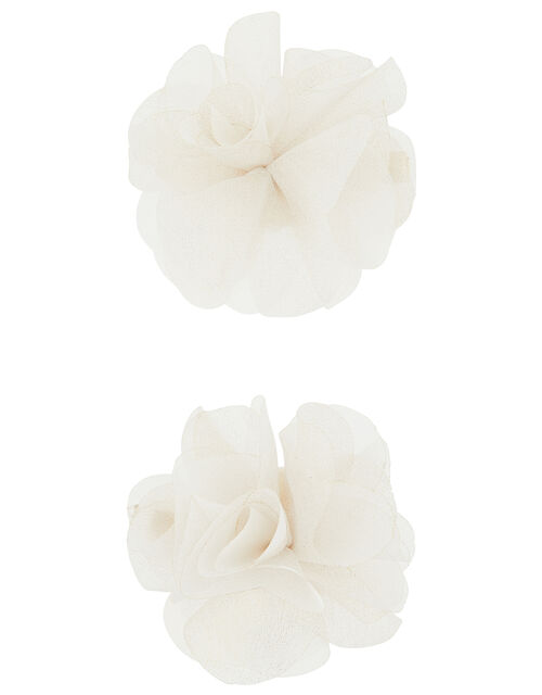 Flower Corsage Hair Clips, , large