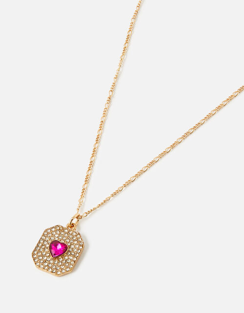 New Decadence Heart Coin Pendant Necklace, , large