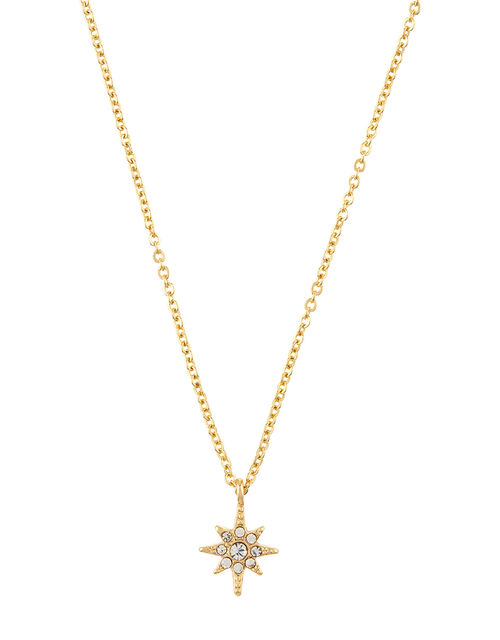 Crystal Star Pendant Necklace, , large
