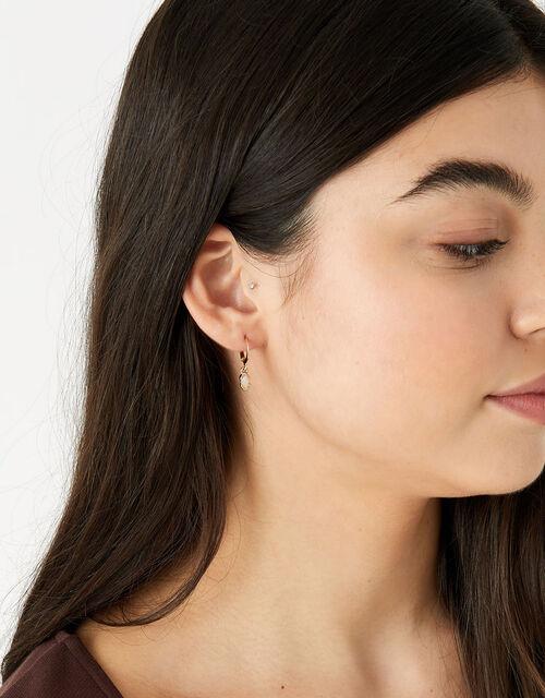 Berry Blush Gem Earrings Set, , large