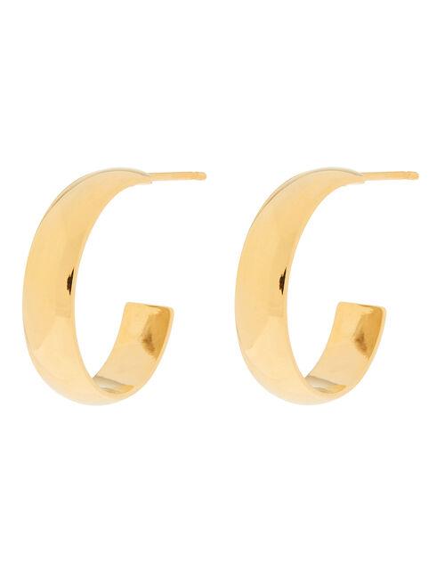 Gold-Plated Mini Hoop Earrings, , large