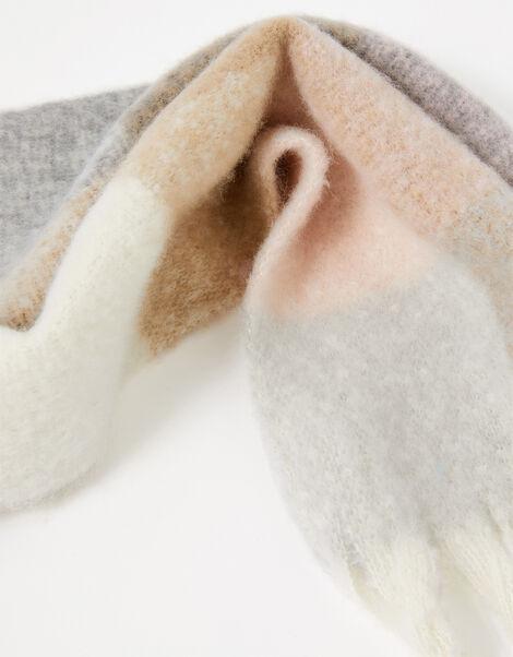 Ankita Fluffy Check Scarf, , large
