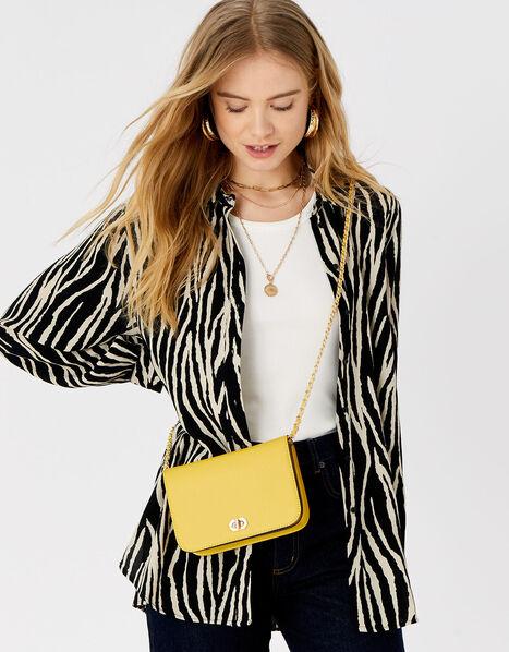 Evie Cross-Body Bag Yellow, Yellow (YELLOW), large