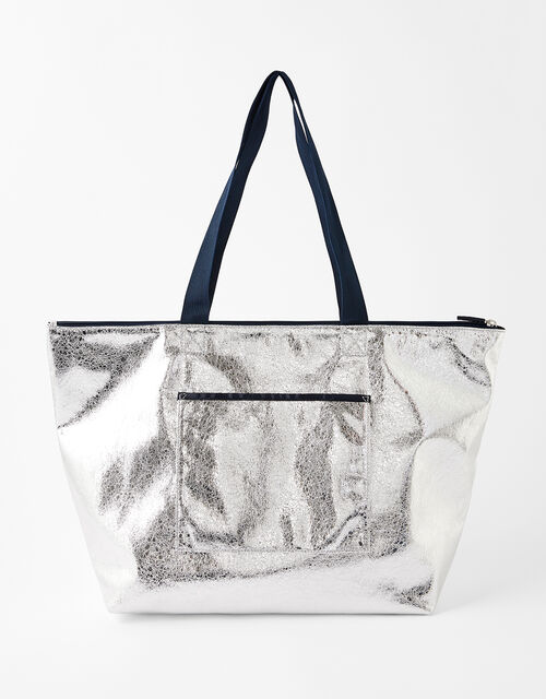 Piper Packable Metallic Gym Bag, , large