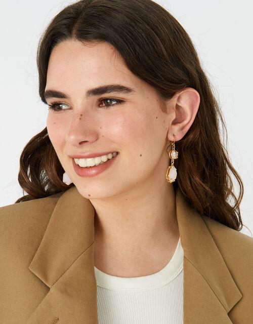 Country Retreat Double Gem Earrings, Multi (DARKS-MULTI), large