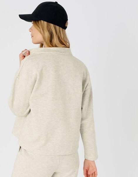 1/4 Zip Sweater Cream, Cream (TAUPE), large