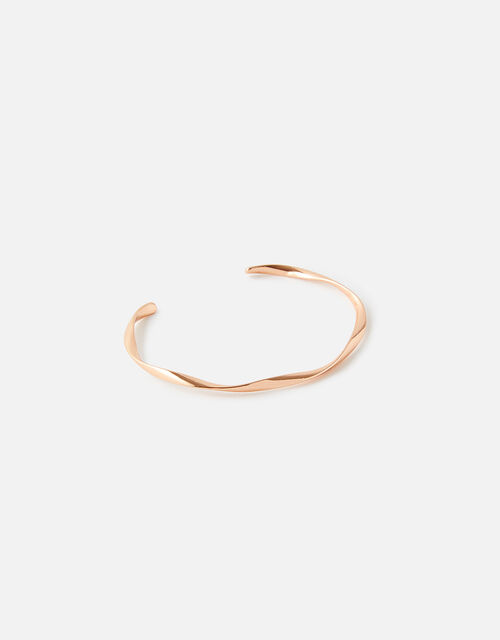 Rose Gold-Plated Twist Cuff Bracelet, , large