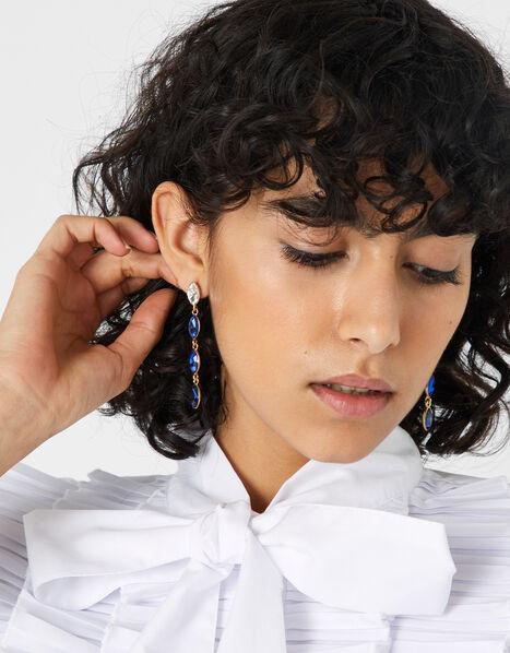 Ombre Gem Long Drop Earrings, , large