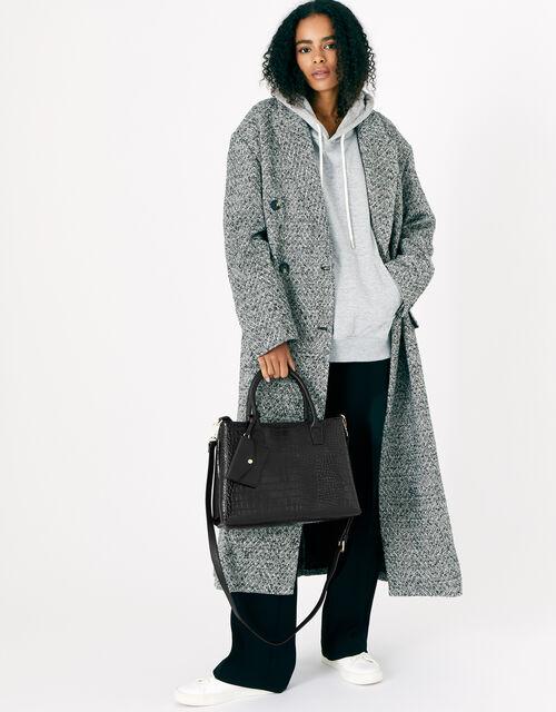 Caroline Handheld Bag, Black (BLACK), large