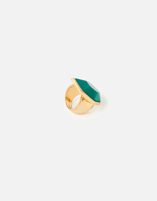 Reconnected Statement Stone Ring , Green (GREEN), large