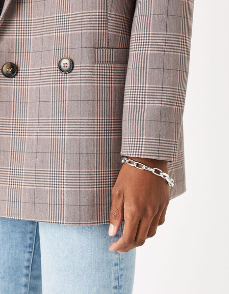 Simple Medium Chain Bracelet Silver, Silver (SILVER), large