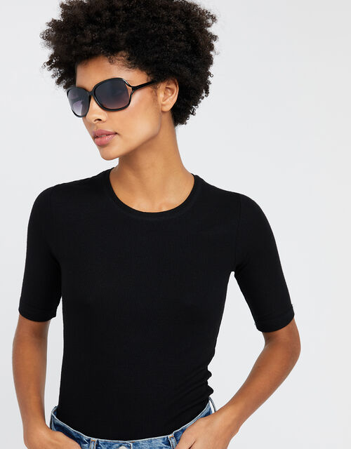 Rochelle Black Sunglasses, , large