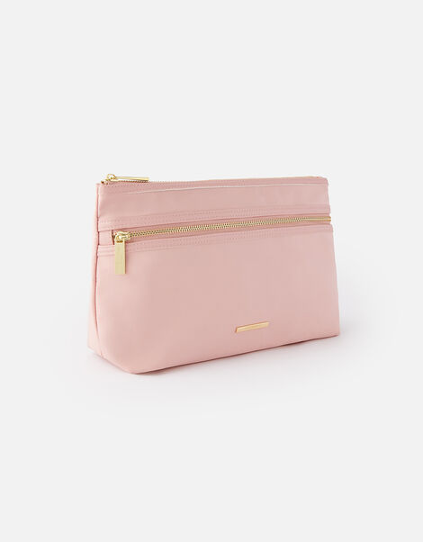 Zahra Zip Makeup Bag Nude, Nude (NUDE), large