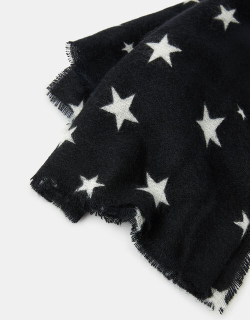 Cosmo Star Print Blanket Scarf, , large