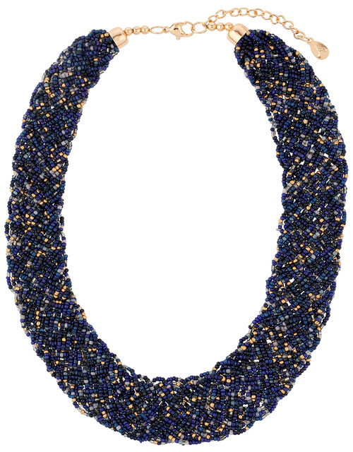 Gemma Beaded Bib Necklace, , large