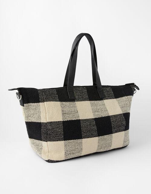 Willa Check Weekender Bag, , large