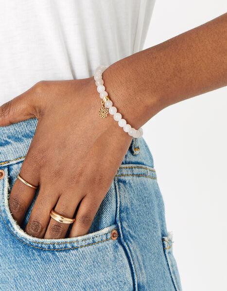Beaded Crown Chakra Bracelet, , large