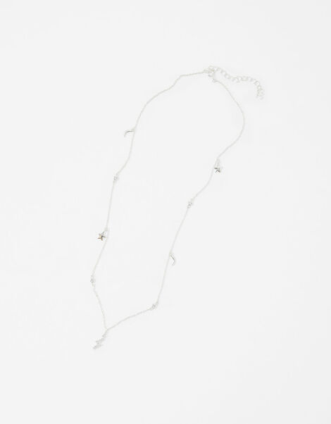 Sterling Silver Charmy Station Necklace, , large