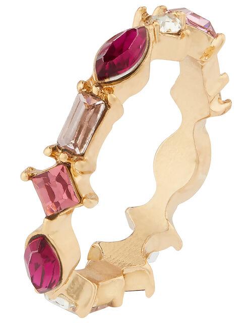 Mixed Gem Sparkle Ring, Pink (PINK), large