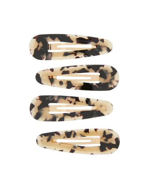 Resin Snap Hair Clip Set, , large