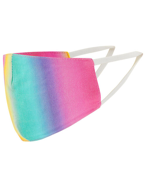 Kids Star and Rainbow Face Covering Set in Pure Cotton, , large