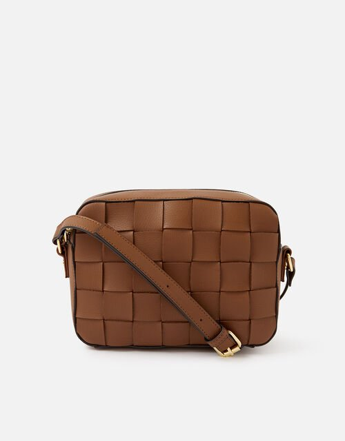 Hayley Weave Camera Bag, Tan (TAN), large