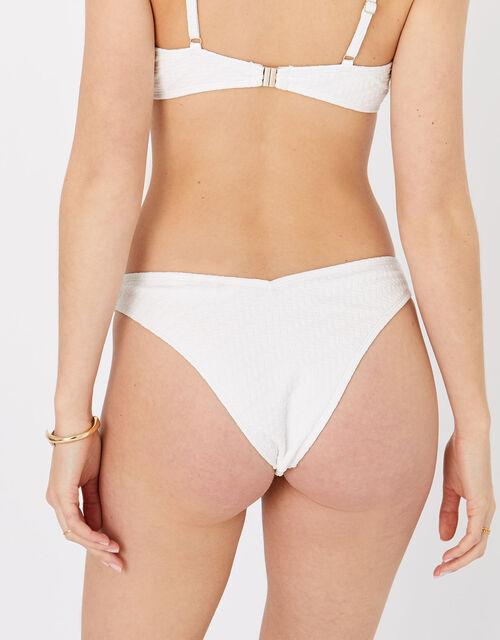 Textured Bikini Briefs, Natural (IVORY), large