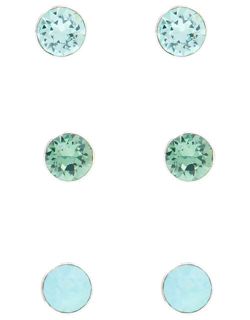 Sterling Silver Stud Multipack with Swarovski® Crystals, , large