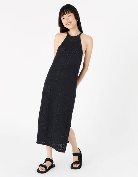 Knit Midi Dress  Black, Black (BLACK), large
