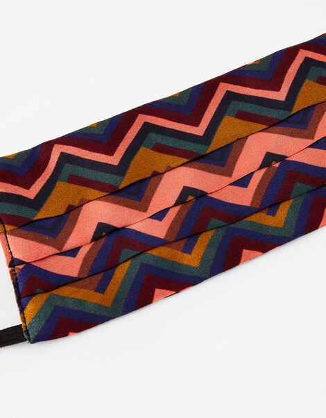 Chevron Face Covering in Pure Silk, , large