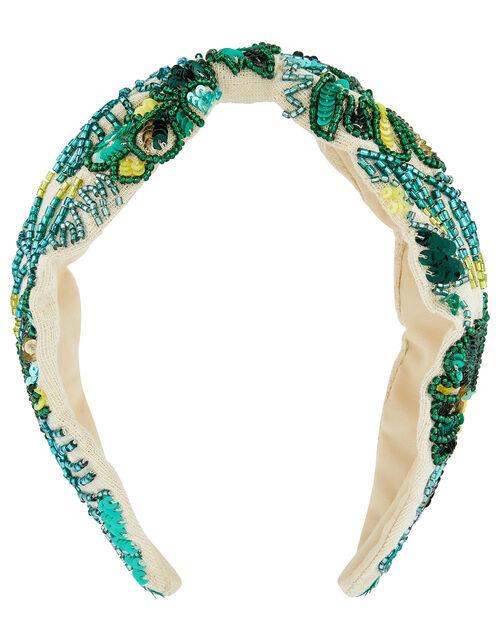 Embellished Wide Knot Headband, , large