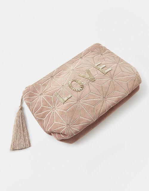 LOVE Embellished Wash Bag, , large