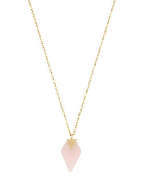 Healing Stones Gold-Plated Rose Quartz Necklace, , large