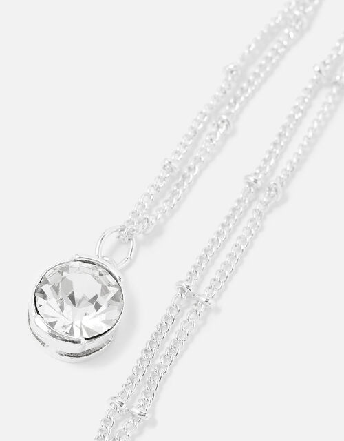 Berry Blush Crystal Pendant Necklace, , large