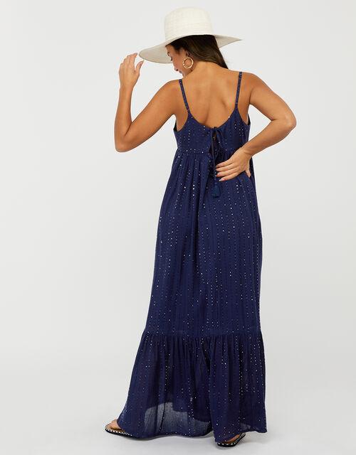 Sequin Maxi Dress, Blue (NAVY), large