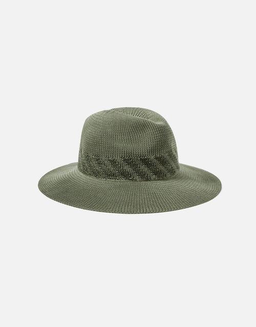 Packable Fedora Hat, Green (KHAKI), large
