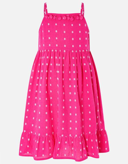 Mini Me Dobby Printed Dress, Pink (PINK), large