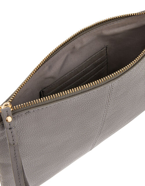 Carmela Leather Cross Body Bag, Grey (GREY), large