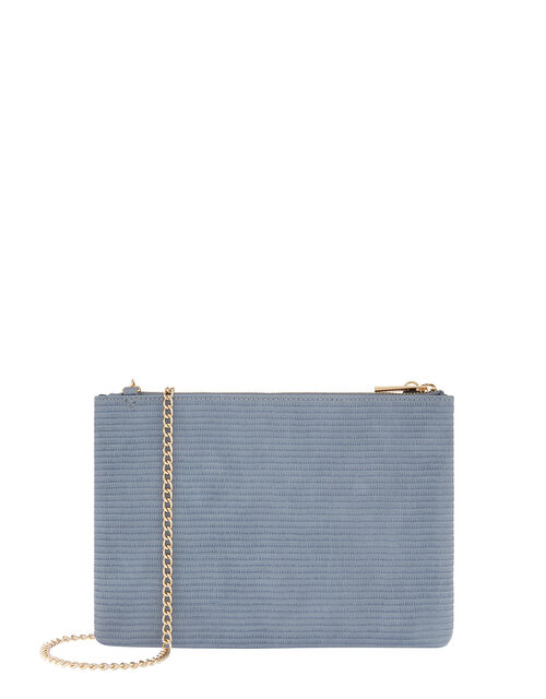 Zip Clutch Bag, Blue (BLUE), large