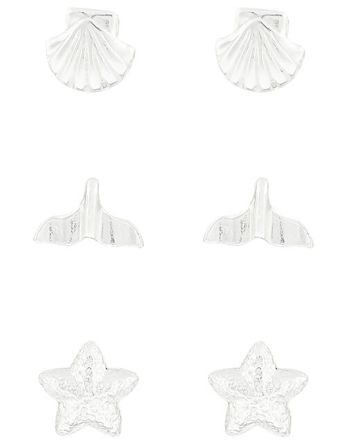 Sterling Silver By the Sea Stud Earring Set, , large