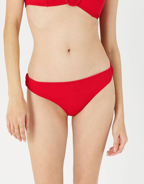 Textured Bikini Briefs, Red (RED), large
