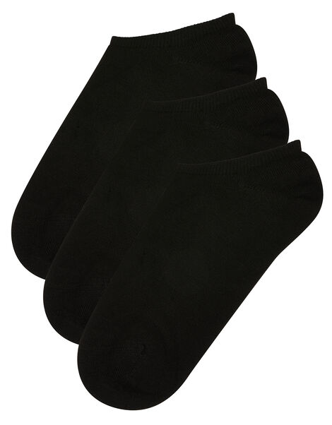 Soft Bamboo Trainer Sock Multipack Black, Black (BLACK), large